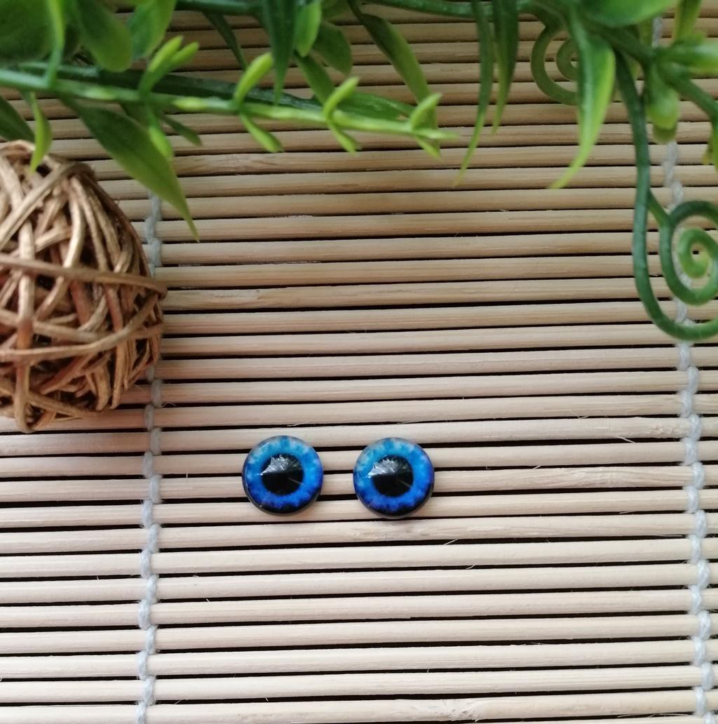 """Глазки """"живые"""", 10 мм, синие"""