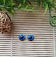 """Глазки """"живые"""", 10 мм, синие, фото 1"""