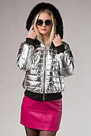 Короткая зимняя куртка с мехом Zanardi 111