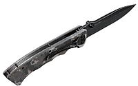 Нож складной, рукоять снабжена накладками из композита G 10 c цеплючей насечкой и камуфляжной окраской, фото 1