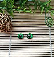 """Глазки """"живые"""", 10 мм, ярко зеленые, фото 1"""