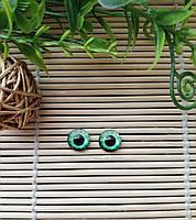 """Глазки """"живые"""", 10 мм, бледно зеленые"""