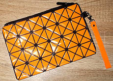 Косметичка голографическая оранжевая