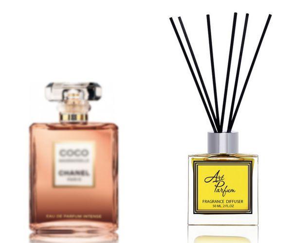 Ароматный диффузор для дома 50 мл, с известным парфюмерным ароматом Coco Mademoiselle Chanel / Коко Мадмуазель Коко Шанель
