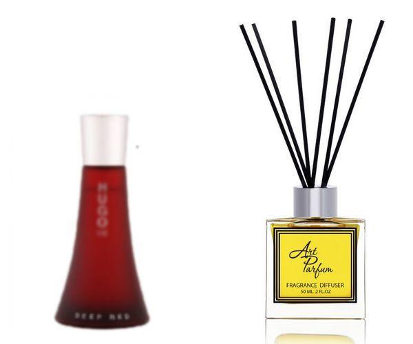 Ароматный диффузор для дома 50 мл, с известным парфюмерным ароматом Deep Red  / Дип Рэд Хьюго Босс