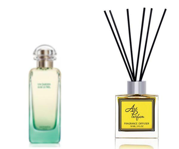 Ароматный диффузор для дома 50 мл, с известным парфюмерным ароматом Un Jardin sur le Nil Hermes / Ан Жардин сюр ле Нил Эрме