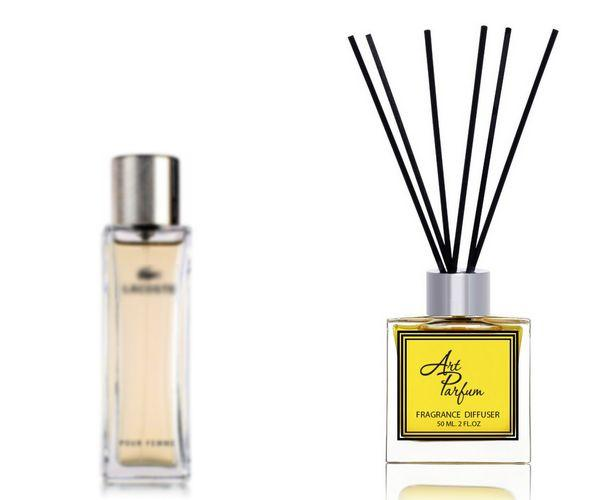 Ароматный диффузор для дома 50 мл, с известным парфюмерным ароматом pour femme Lacoste / Лакост поур фэм Лакост