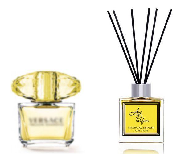 Ароматный диффузор для дома 50 мл, с  парфюмерным ароматом Yellow Diamond( Елоу Даймонд Версаче )