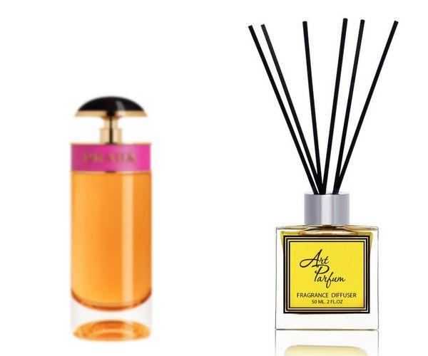 Ароматный диффузор для дома 50 мл, с известным парфюмерным ароматом Candy Prada / Кэнди Прада