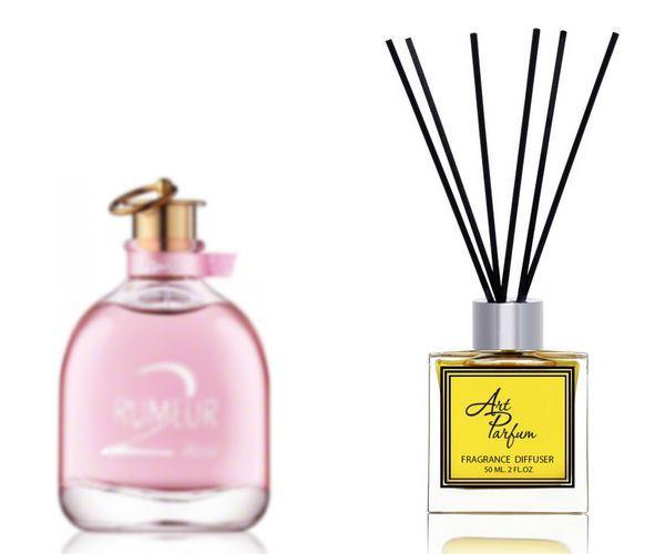 Ароматный диффузор для дома 50 мл, с  парфюмерным ароматом Rumeur 2 Rose( Румеур Ту роуз Ланвин )
