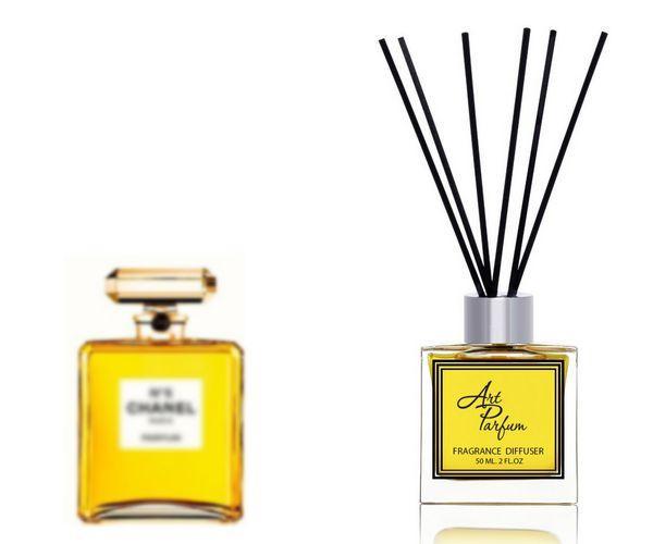 Ароматный диффузор для дома 50 мл, с  парфюмерным ароматом Chanel №5( Шанель №5 Коко Шанель )