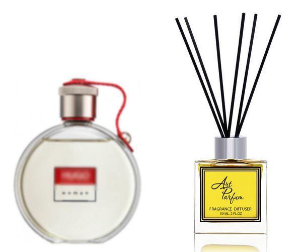 Ароматный диффузор для дома 50 мл, с  парфюмерным ароматом Hugo Woman( Хьюго Вумен Хьюго Босс )