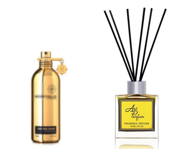 Ароматный диффузор для дома 50 мл, с известным парфюмерным ароматом Golden Sand Montale / Голден Сэнд Монталь