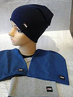 шапочка для мальчика трикотажная двойная