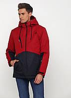 Мужская демисезонная куртка Danstar K-176r (50) красная