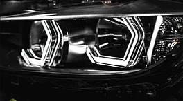 """Кольца подсветки """"ангельские глазки"""" Iconic Angel Eyes универсальные для BMW, Benz, Subaru E92 F30 F31 F34 F80"""