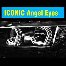 """Кольца подсветки """"ангельские глазки"""" Iconic Angel Eyes универсальные для BMW, Benz, Subaru."""