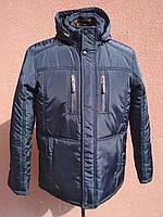 Мужская зимняя куртка классическая, темно-синяя, фото 1