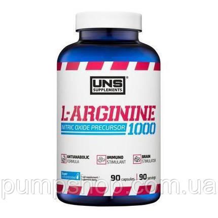 Аргинин UNS L-Arginine 1000 90 капс., фото 2