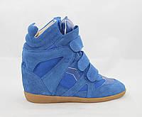 Кроссовки женские Isabel Marant маранты синие замшевые 37 (24см)