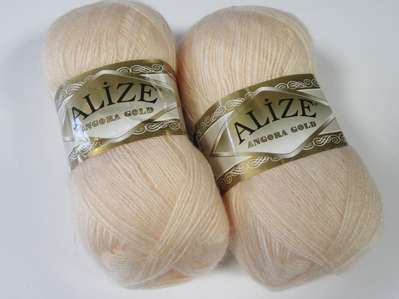 ANGORA GOLD 681 ярко-персиковый - 20% шерсть, 80% акрил