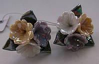 Серьги-гвоздики из полимерной глины № 2 с эмалью от Студии  www.LadyStyle.Biz, фото 1
