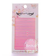 Гибкие ленты для дизайна ногтей (розовые)