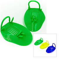 Лопатки для плавания детские 19*12 см синие, зеленые, желтые, фото 1