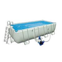 Каркасный бассейн Intex Rectangular Ultra Frame Pool 28352 (549х274х132 см) + песочный насос