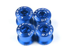 Бонки для шатунов LitePro, алюминиевые, синие, 4 шт