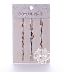 Ленты для дизайна ногтей ( бронза, белая)