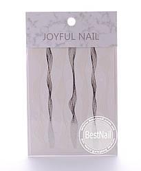 Ленты для дизайна ногтей ( серебро, белая)
