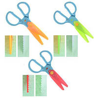 Ножницы детские для фигурной резки бумаги 3нас/наб
