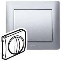 Лицевая панель Выключатель/переключатель механизмов управления вентиляцией Алюминий Legrand Galea Life (771357