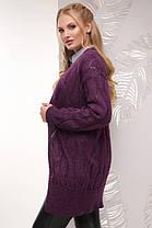 Красивый женский вязаный кардиган больших размеров с 50 по 58, фото 2