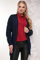 Красивый женский вязаный кардиган больших размеров с 50 по 58, фото 3