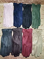 Замш с сенсором женские перчатки для работы на телефоне плоншете стильные только оптом, фото 1