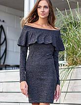Женское ангоровое платье-футляр с воланом (Микаjd), фото 2