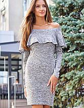 Женское ангоровое платье-футляр с воланом (Микаjd), фото 3