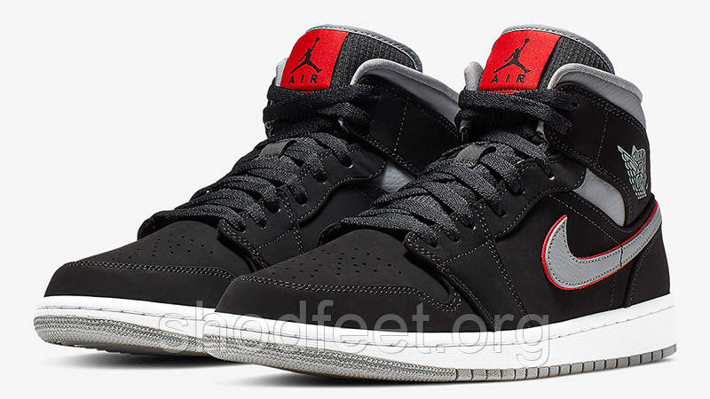 Кроссовки Air Jordan 1 Mid Black Grey