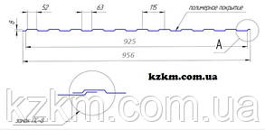 Профнастил стеновой С-8 дешевый 1000мм ширина