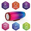 Беспроводная Bluetooth колонка SODO L1-LIFE Red JKR | Оригинал | Гарантия, фото 2