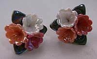 Серьги-гвоздики из полимерной глины № 5 с эмалью от Студии  www.LadyStyle.Biz