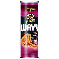 Чипсы Pringles Wavy Sweet&Tangy BBQ 137g, фото 1