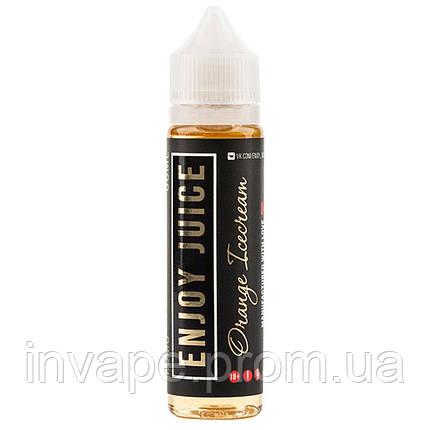 Жидкость для электронных сигарет Enjoy Juice - Orange Icecream (Апельсиновое мороженное) 60мл, 1.5 мг, фото 2