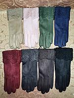 Вязание шерсти с Замш женские перчатки оптом, фото 1