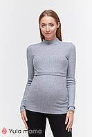 Гольф для беременных и кормящих LECIE WARM NR-49.063 джинсово-серый меланж, фото 1
