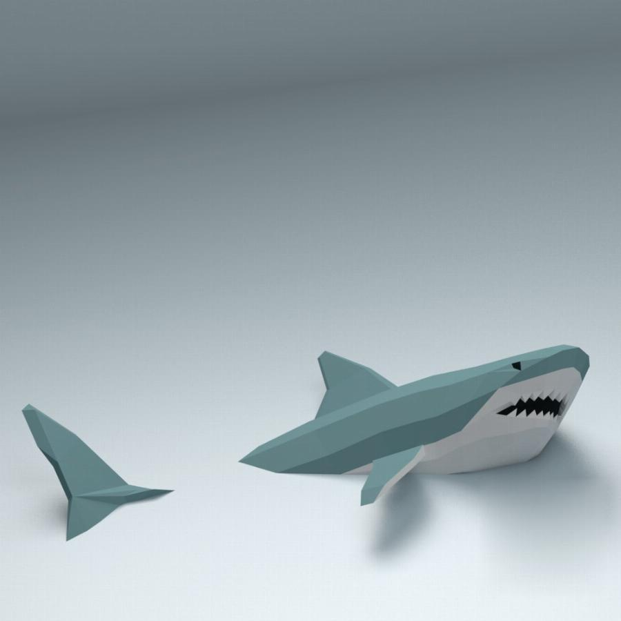 Papercraft Акула