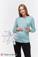 Джемпер для беременных и кормящих SATINE BL-49.042, из теплого трикотажа, мятный, фото 1