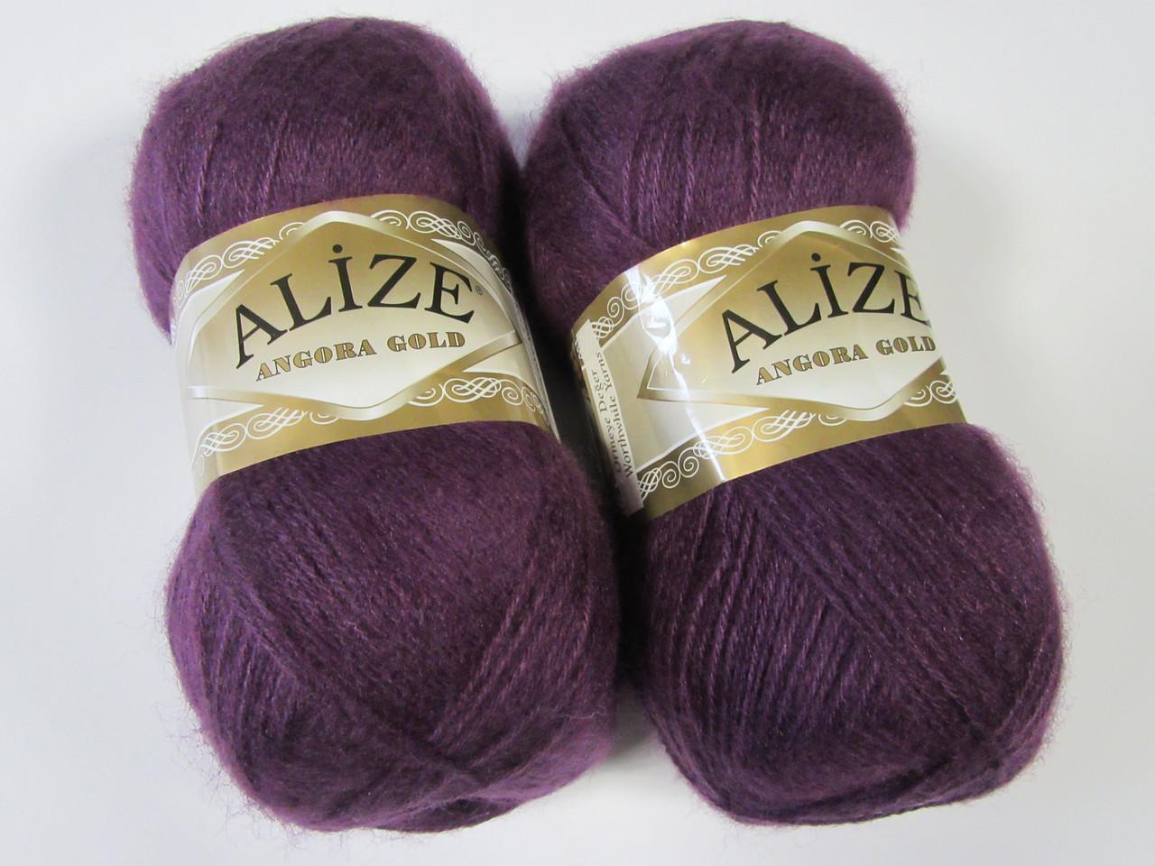 ANGORA GOLD 111 фиолетовый - 20% шерсть, 80% акрил